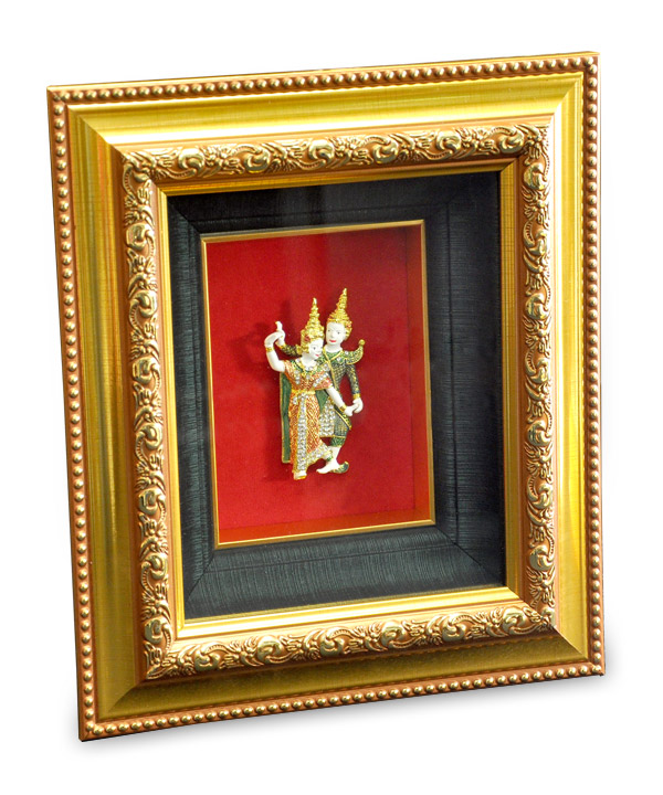 Frame with thai dancing size 23.5 x 27.5 cm
