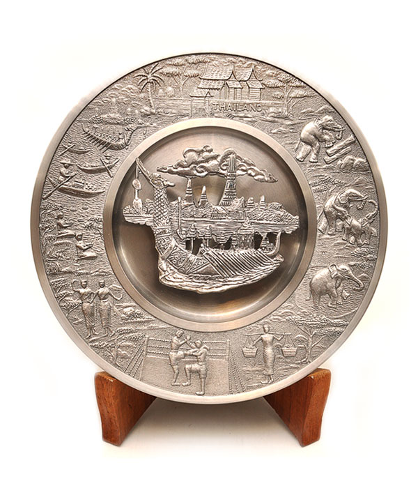 Pewter showplate size 6 inch